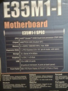 Asus E35M1-l Mainboard