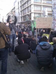 Anti Acta Demo Mannheim 25.02.2012 Paradeplatz