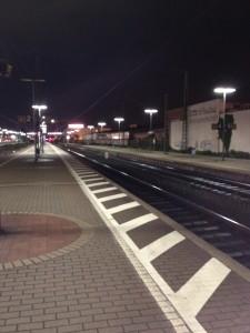 Bahnhof in Waldhof Nachtaufnahme mit Nightcap