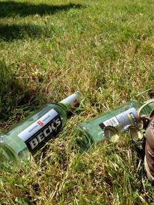 Je später der Tag desto leerer die Flaschen
