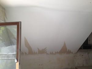 Auch im Wohnzimmer gab es mal ordentliche Dachschrägen