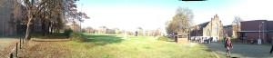 Panoramaaufnahme der Turley Barracks am Turley Fest