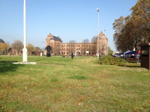 Hofaufnahme der Turley Barracks in Mannheim