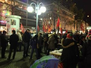 14N Gereralstreik soli Veranstaltung mannheimer Paradeplatz