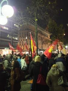 14N Generalstreik soli Veranstaltung Paradeplatz Mannheim