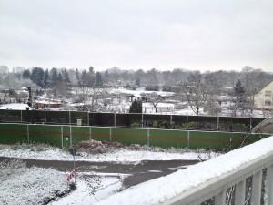 Der erste Schnee in Laqmpertheim