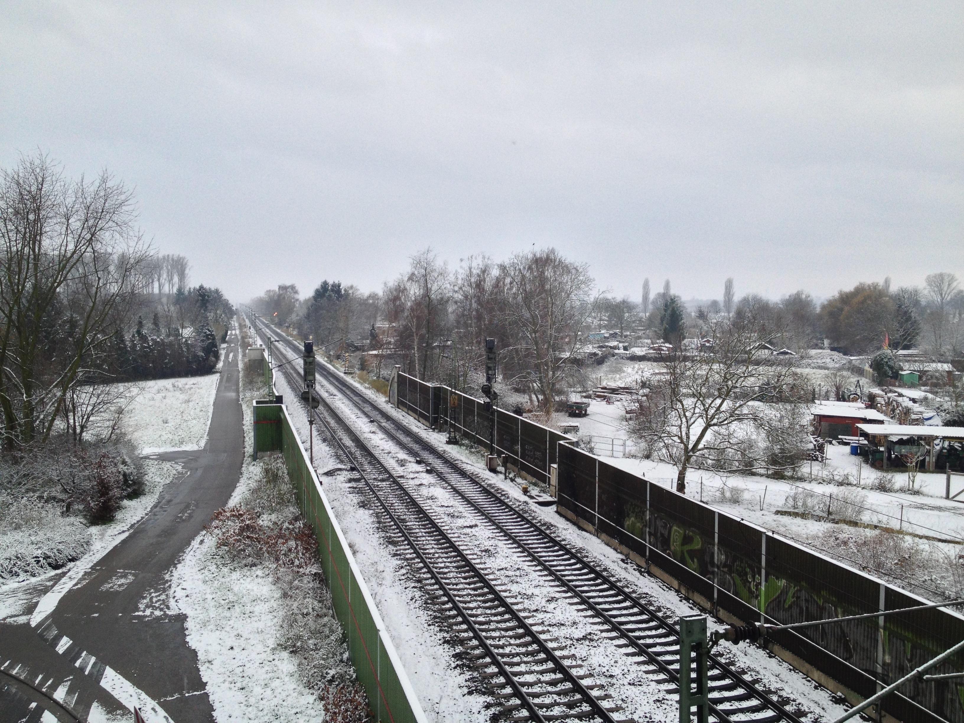 Der erste Schnee in Lampertheim