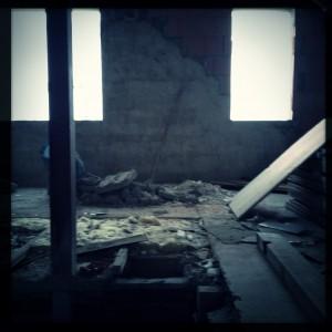 Ein weiteres Bild der Baustelle, geschossen mit der Hipstamatic
