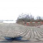 Hochwasser an der Natostraße in Lampertheim aufgenommen mit der 360° App für das iPhone