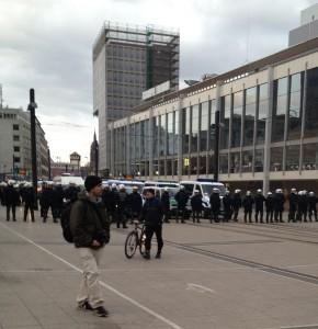 Polizeiaufgebot an der EZB