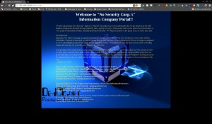 No Security Corps Webseite