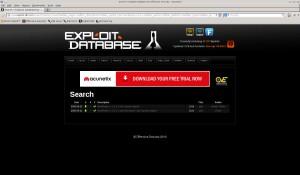Suchergebnis auf exploit-db