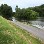 Biedensandparkplatz in Lampertheim steht komplett unter Wasser