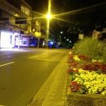 Lampertheims Strassen bei Nacht
