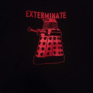 Vorderseite meines neuen Doctor Who T-Shirts
