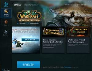 Auch Blizzard hat inzwischen seinen eigenen Gameclient