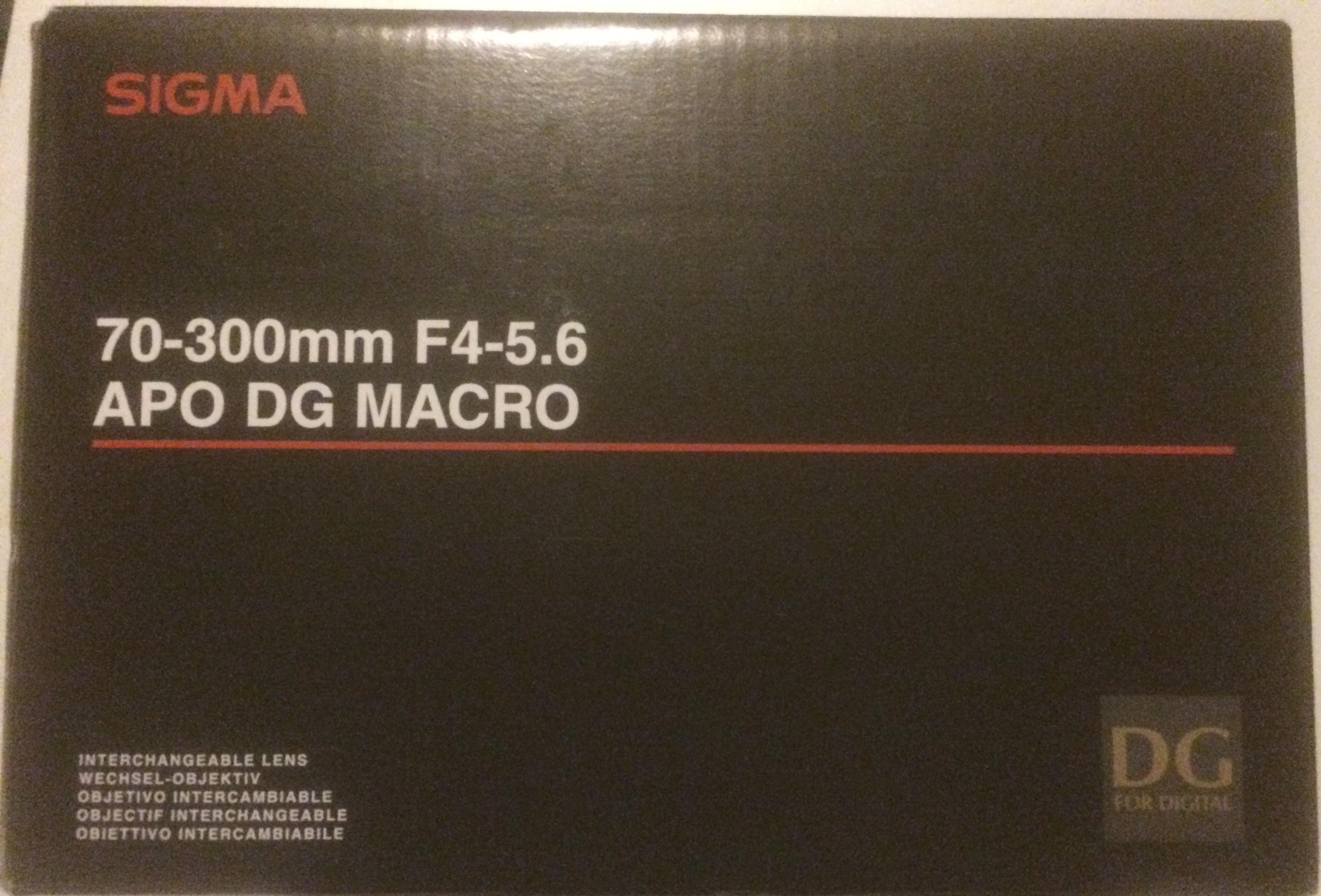 Sigma 70-300mm F4-5.6 DG APO Macro