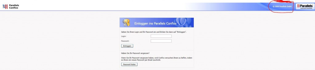 Parallels Managmentinterface