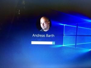 Loginfenster von Windows10