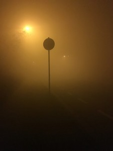 Nebel in der lampertheimer Silvesternacht